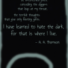 I have learned to hate the dark poem