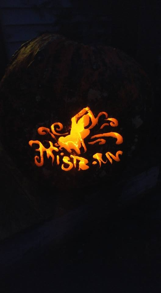 Mistborn Pumpkin (further back)