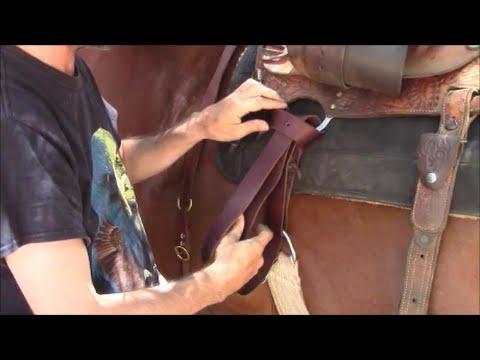 How To Tie A Latigo Knot With A Western Saddle, Mike Hughes ...