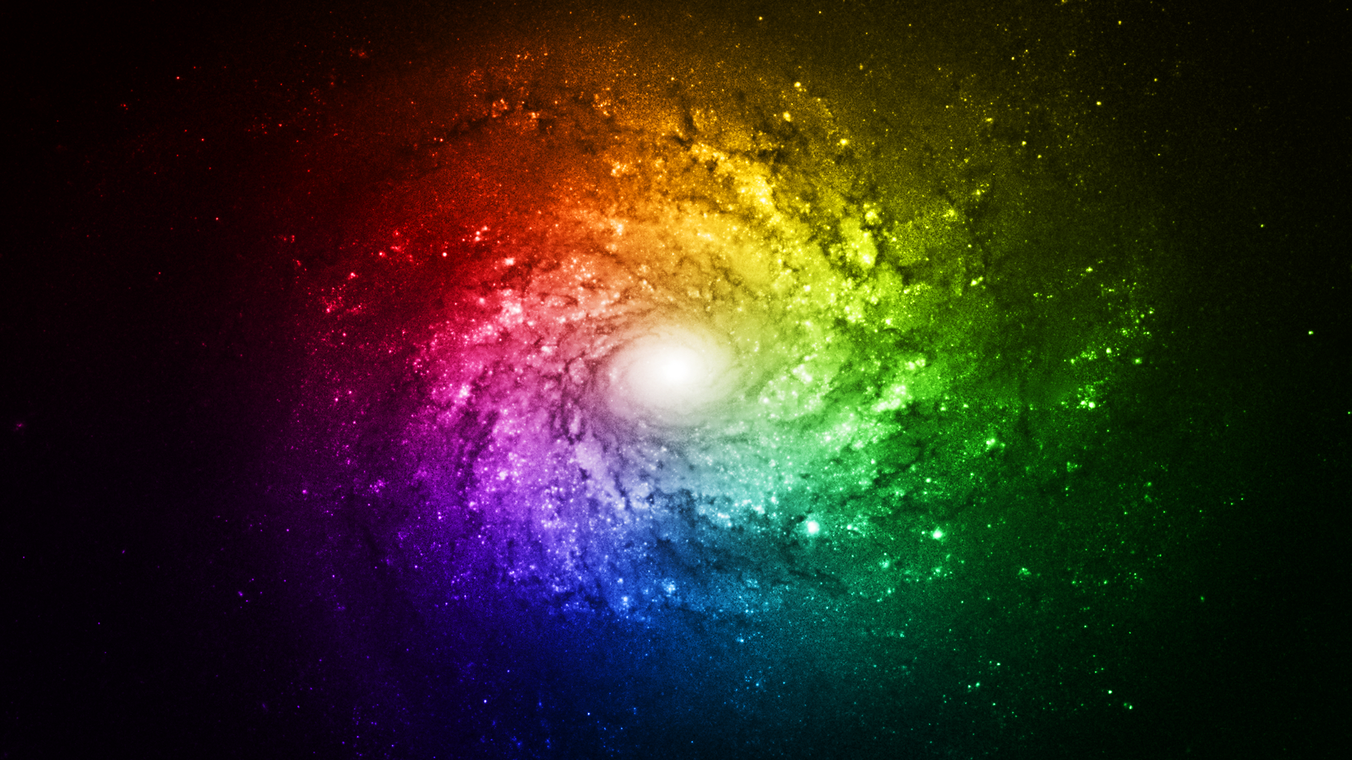 Rainbow Galaxy Bright Wallpaper Full HD by RainbowChipsette on DeviantArt
