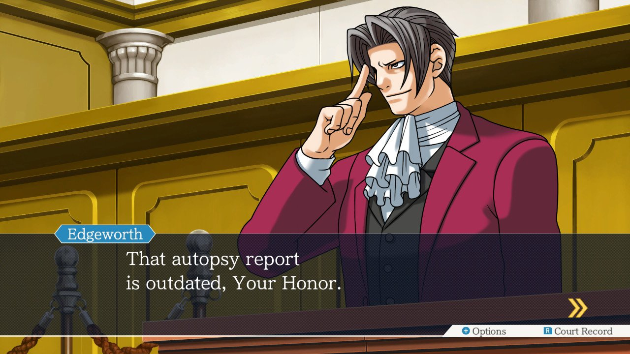 "Ace Attorney on Twitter: ""When the autopsy report is outdated:… """