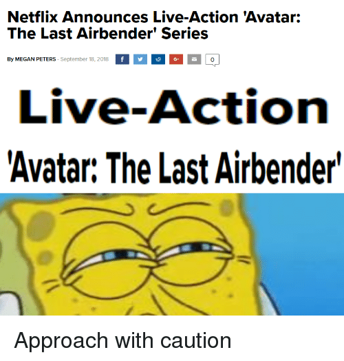 Image result for the last airbender netflix memes