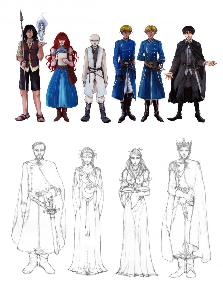 The Way of Kings Characters III (Full Body)