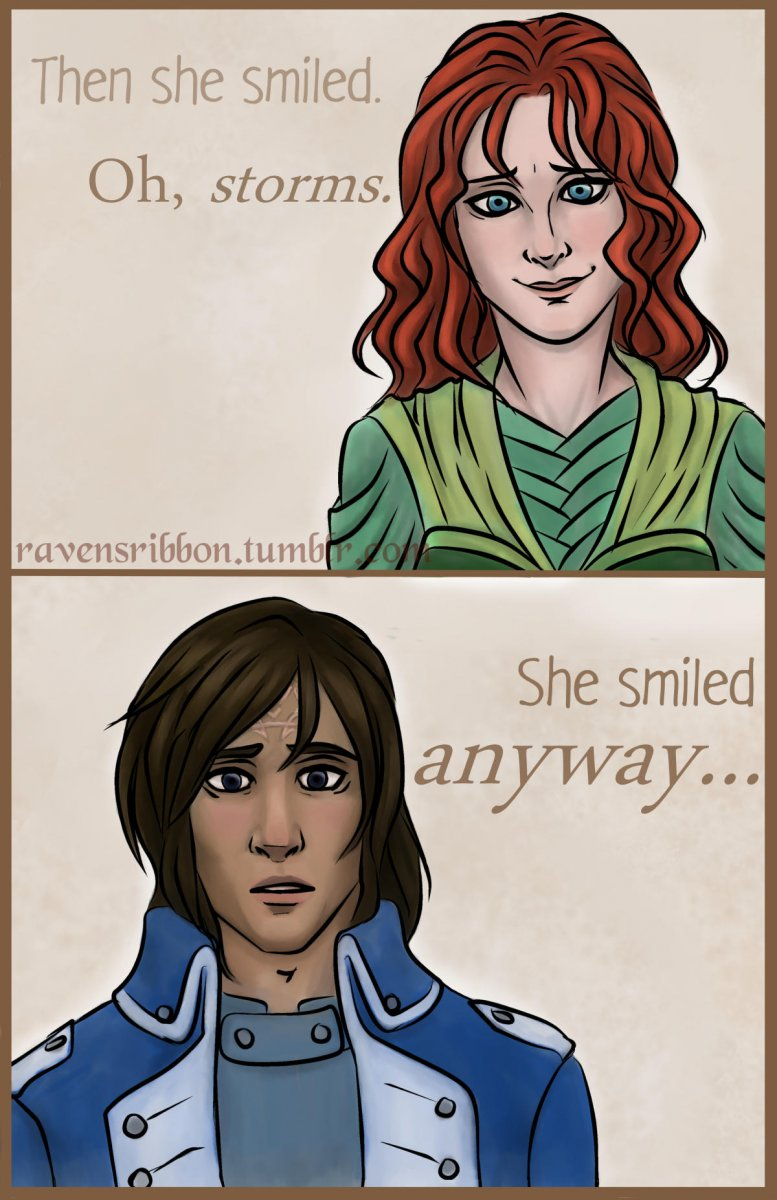 She smiled anyway