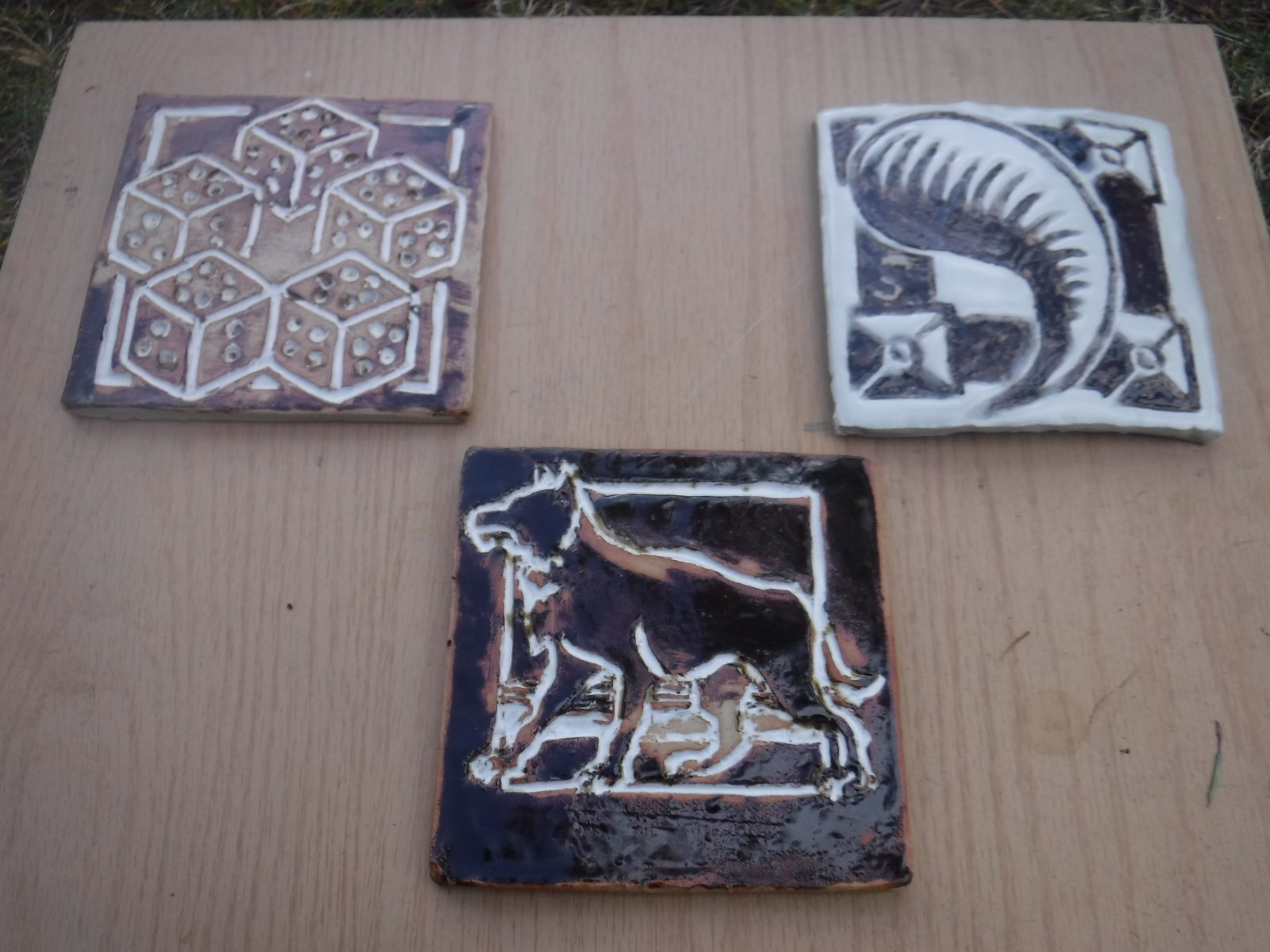 Three tiles