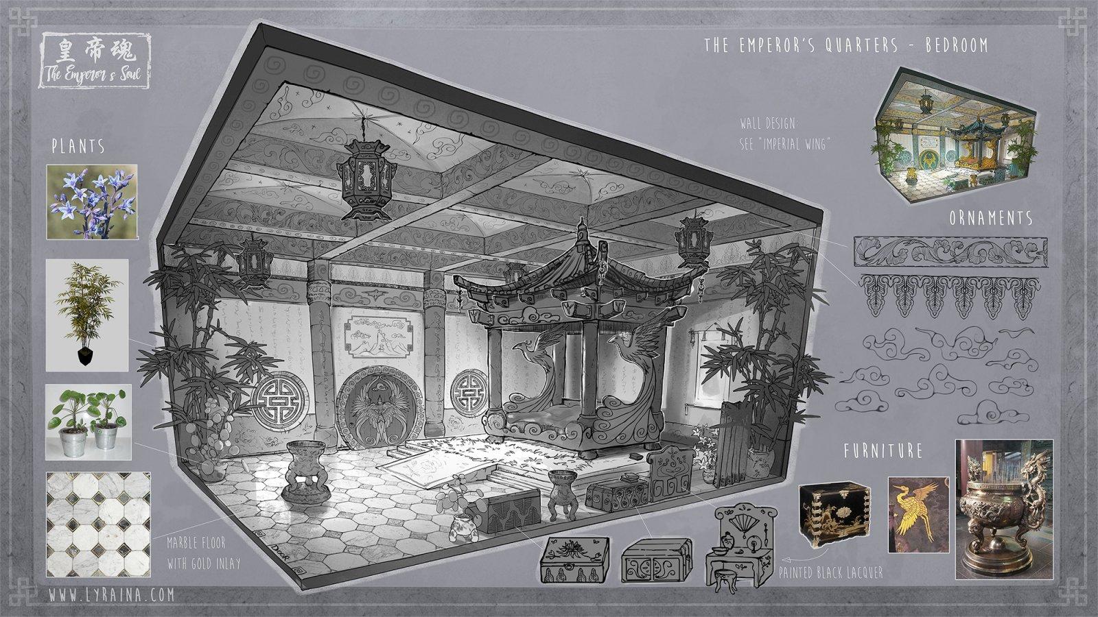 Emperor Ashravan's bedchamber