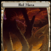 Red mana token