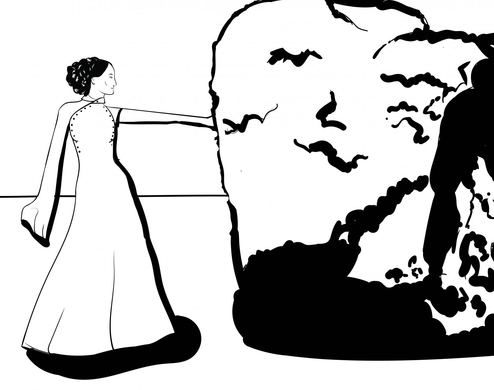 Jasnah and the stone coloring page