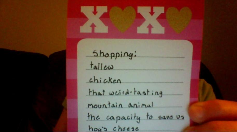 Tarvangian's Shopping List