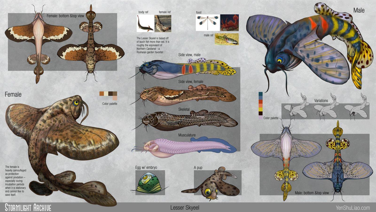 The Lesser Skyeel - final designs