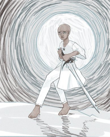 Szeth son son vallano wore white because coloring things in is hard.