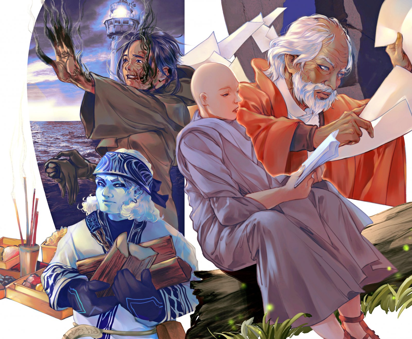 OB Interludes Characters - Puuli, Kaza, Ellista, Taravangian