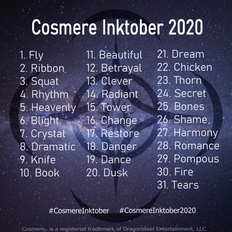 Cosmere Inktober 2020.png