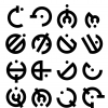 I tried redesigning the Allomantic symbols for the basic metals for Space Age Mistborn