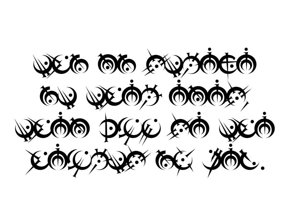 They Shall See the Hearts of Men (Steel Alphabet Font)