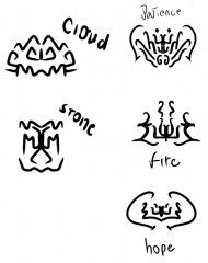 More attempts at glyphs