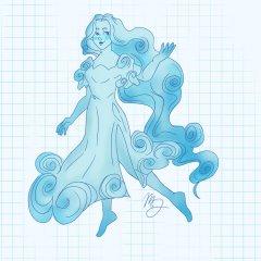 A floaty, swirl adorned Syl